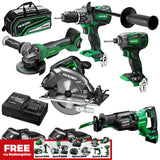 Hikoki 5pc MultiVolt Brushless Combination Pack