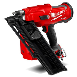 (Available Now) Milwaukee 18V Li-ion Cordless Fuel 30°- 34° Framing Nailer - Skin Only