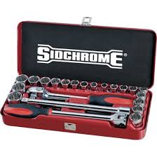 "Sidchrome 24 Piece 1/2"" Metric & Imperial Socket Set"