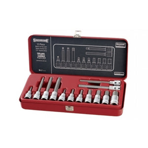 Sidchrome In-hex Socket Set 1/2 Drive 13 Piece