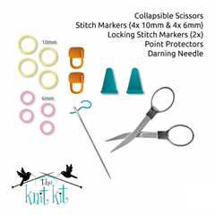 The Knit Kit - Complete Knit Knack Accessory Packs for The Knit Kit 1.0 (with scissors)