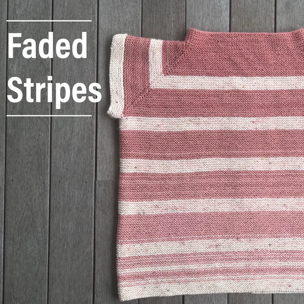 Faded Stripes by Katie Jordan - Pattern Only