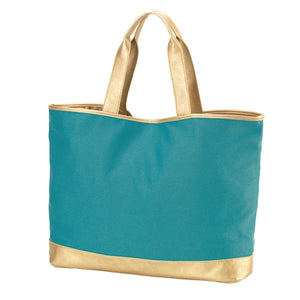Load image into Gallery viewer, Teal Cabana Tote