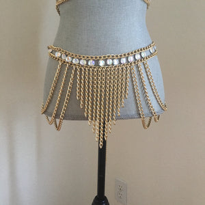 Lily chain belt