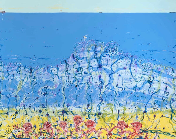 "JOHN OLSEN ""Popping Blue Bottles"" Signed, Limited Edition Digital Print 75 x 95"