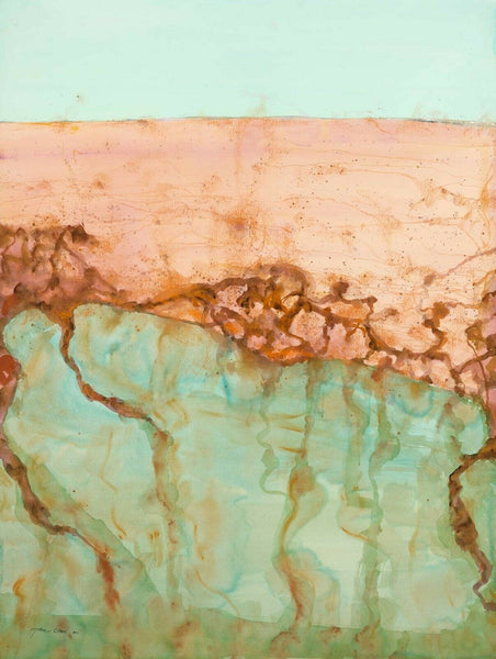 "JOHN OLSEN ""Desert Sea II"" Signed, Limited Edition Digital Print 94cm x 71cm"