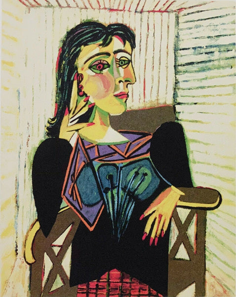 "PABLO PICASSO ""Dora Maar Seated"" Limited Edition Colour Giclee"