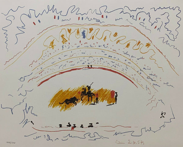 "PABLO PICASSO ""Corrida"" Limited Edition Colour Off Set Lithograph"