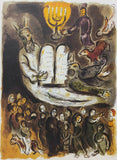 "MARC CHAGALL ""Exodus - Tablets"" Limited Edition Colour Lithograph"