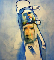 "CHARLES BLACKMAN ""Totem"" Signed Limited Edition Print 100cm x 90cm"