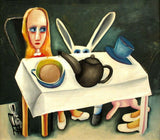 "CHARLES BLACKMAN ""Feet Beneath The Table"" Signed, Limited Edition 66cm x 76cm"