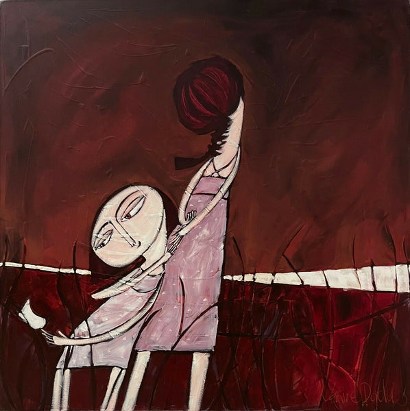 "JANINE DADDO ""Love"" Acrylic and Mixed Media Painting on canvas 120cm x 120cm"