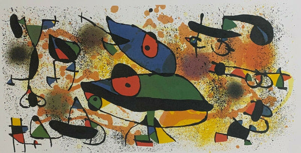 "JOAN MIRO ""Sculpture II"" Limited Edition Colour Lithograph"