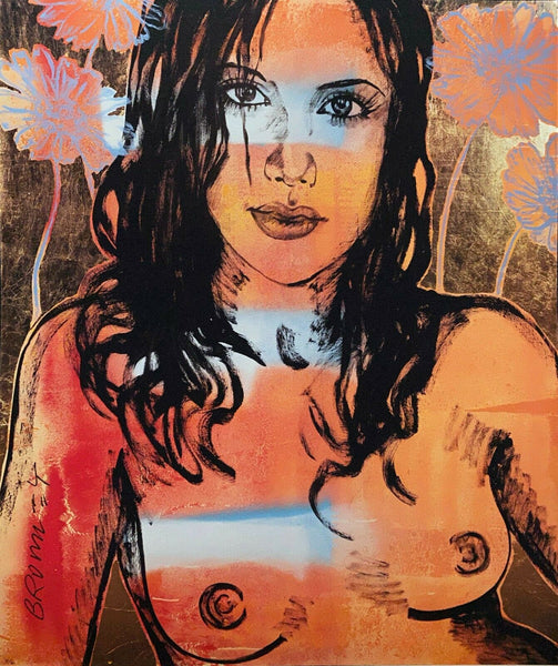 "DAVID BROMLEY Nude ""Alexia"" Signed Limited Edition Print, 60cm x 50cm"