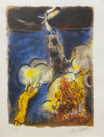 "MARC CHAGALL ""Moses and The Sea"" Limited Edition Colour Lithograph"