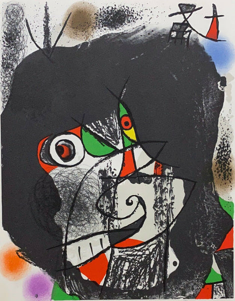 "JOAN MIRO ""End of Illusion I"" Limited Edition Colour Lithograph"