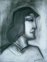 "ROBERT DICKERSON ""Rose"" Original Charcoal, Signed, 32cm x 24cm, Framed"