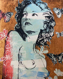 "DAVID BROMLEY Nude ""Hillary"" Signed Limited Edition Print, 90cm x 74cm"