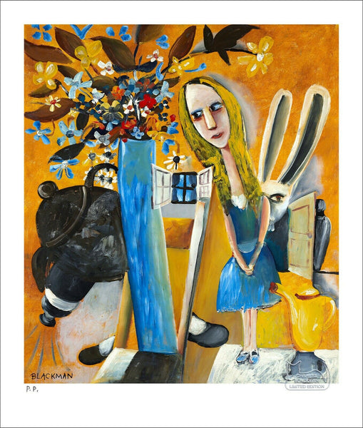 "CHARLES BLACKMAN ""Alice In Wonderland"" Printers Proof Print PP 32cm x 28cm"