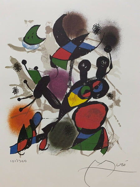 "JOAN MIRO ""Volume III"" Limited Edition Colour Lithograph"