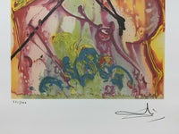 "SALVADOR DALI ""Saint George"" Limited Edition Colour Lithograph"