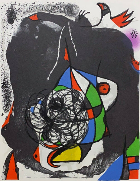 "JOAN MIRO ""End of Illusion II"" Limited Edition Colour Lithograph"