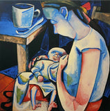 "CHARLES BLACKMAN ""Barbara & Auguste"" Signed Limited Edition Print 100cm x 100cm"