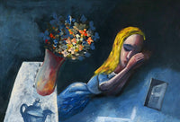"CHARLES BLACKMAN ""Dreaming Alice"" Signed, Limited Edition Print 66cm x 97cm"