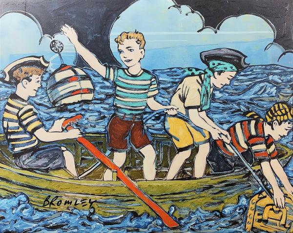 "DAVID BROMLEY ""Maiden Voyage"" Signed Limited Edition Print, 72cm x 90cm"
