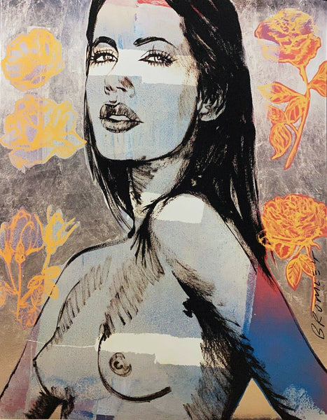 "DAVID BROMLEY Nude ""Cheyenne"" Signed Limited Edition Print, 90cm x 72cm"