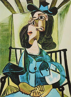 "PABLO PICASSO ""Woman With Hat Seated In Armchair"" Limited Edition Colour Giclee"