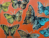 "DAVID BROMLEY ""Butterflies"" Mixed Media on Card 70cm x 88cm"