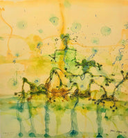 "JOHN OLSEN ""Morning at the Lily Pond"" Limited Edition Digital Print 73cm x 68cm"