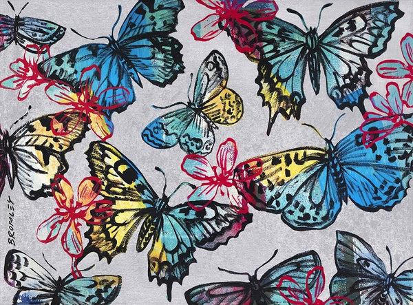 "DAVID BROMLEY ""Butterflies"" Signed Limited Edition Print 77cm x 104cm - Stunning"