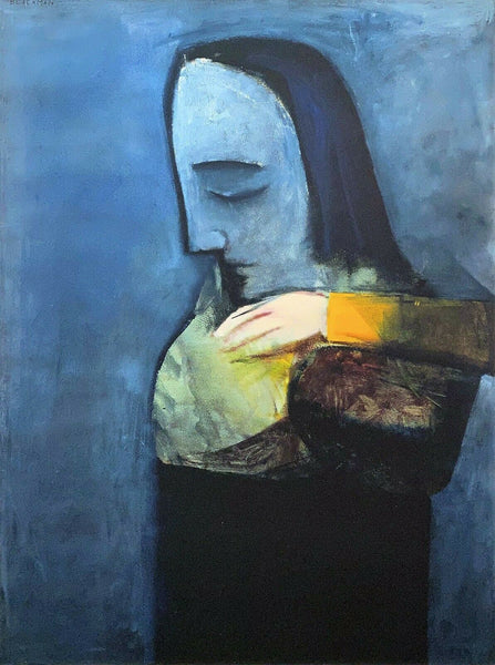 "CHARLES BLACKMAN ""Mother & Child"" LARGE Signed Limited Edition Print 100 x 75cm"