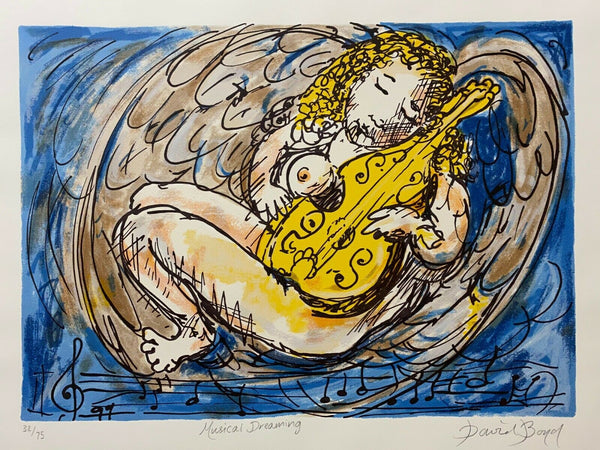 "DAVID BOYD ""Musical Dreaming"" Signed, Limited Edition Screenprint 43cm x 60cm"