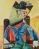 "PABLO PICASSO ""Seated Woman in Armchair"" Limited Edition Colour Giclee"