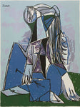 "PABLO PICASSO ""The Thinker"" Limited Edition Colour Off Set Lithograph"