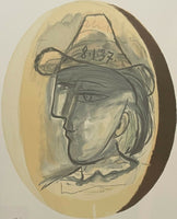 "PABLO PICASSO ""Tete"" Limited Edition Lithograph - Marina Picasso Collection"