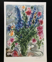 "MARC CHAGALL ""Les Lupin Bleu"" Limited Edition Colour Lithograph"