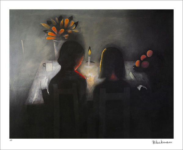 "CHARLES BLACKMAN ""The Angelus"" Signed, Limited Edition Print 66cm x 84cm"