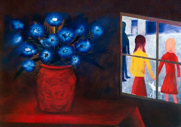 "CHARLES BLACKMAN ""Blue Bouquet and Window"" Signed, Limited Edition Print 66 x 91"