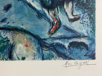"MARC CHAGALL ""Lovers Over Paris"" Limited Edition Colour Lithograph"
