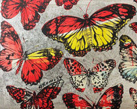 "DAVID BROMLEY ""Silver Butterflies"" Signed Limited Edition Print 72cm x 90cm"