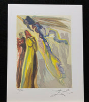 "SALVADOR DALI ""Two Wreaths of Spirits"" Limited Edition Colour Lithograph"