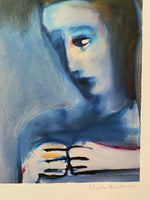 "CHARLES BLACKMAN ""Divided Painting"" LARGE Signed Limited Edition Print 98 x 92cm"