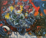 "MARC CHAGALL ""Bouquet De Fleur et Amants"" Limited Edition Colour Lithograph"