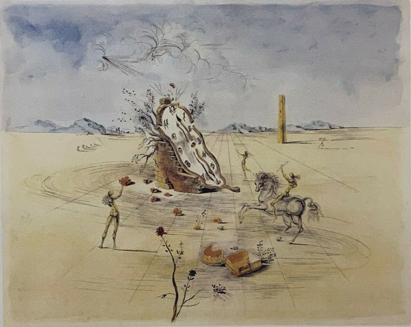 "SALVADOR DALI ""Cosmic Horseman"" Limited Edition Colour Lithograph"