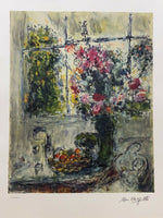 "MARC CHAGALL ""Still Life With Flowers"" Limited Edition Colour Lithograph"