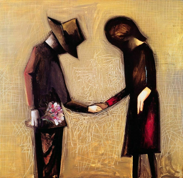 "CHARLES BLACKMAN ""The Meeting"" Signed, Limited Edition Print 65cm x 67cm"